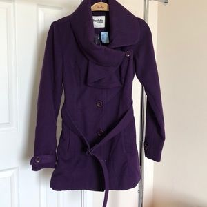 Purple coat XS